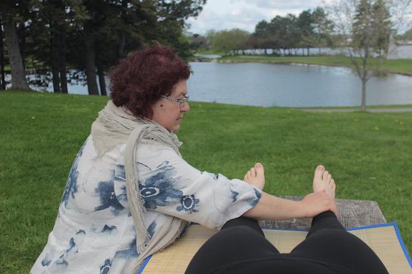 Reiki hands on healing feet
